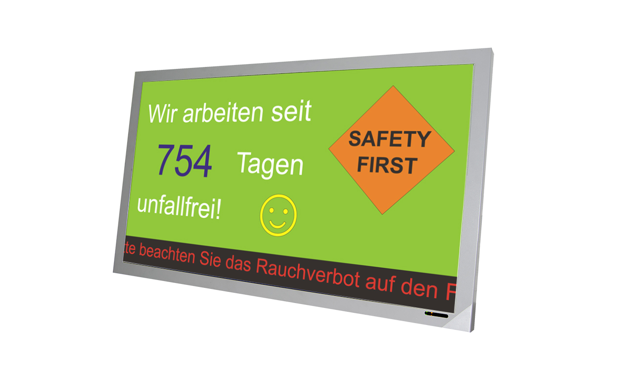 Accident-free days display - microSYST Systemelectronic GmbH